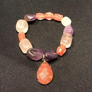 Chunky stone bracelet